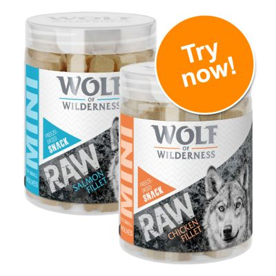 Wolf of Wilderness Mini RAW Freeze-dried Snacks Mixed Trial Pack