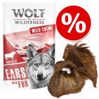 Wolf of Wilderness orelhas para cães com desconto!