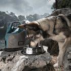 Wolf of Wilderness protiskluzová miska z nerezové oceli