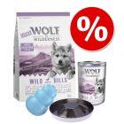 Wolf of Wilderness ração sem cereais para cachorros - Pack de iniciação