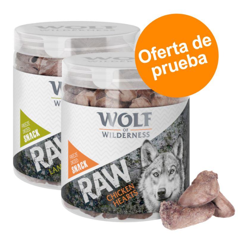 Wolf of Wilderness RAW snacks liofilizados - Pack de prueba mixto (2 tipos)