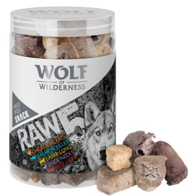 Wolf of Wilderness RAW 5 snacks liofilizados - 5 sabores