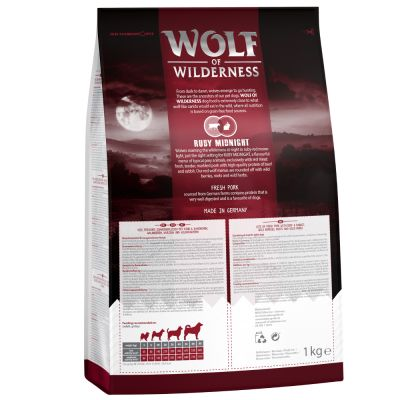 Wolf of Wilderness Ruby Midnight bœuf, lapin pour chien