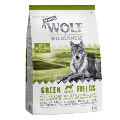 Wolf of Wilderness Senior Green Fields, agneau pour chien