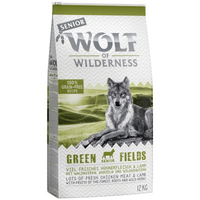 Wolf of Wilderness Senior Green Fields con cordero