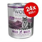 Экономупаковка Wolf of Wilderness Senior 24 x 800 г