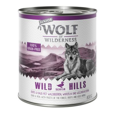 Wolf of Wilderness Senior 6 x 800 g pour chien