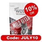"""Wolf of Wilderness Snack Wild Bites Senior """"High Valley"""" Beef & Chicken"""
