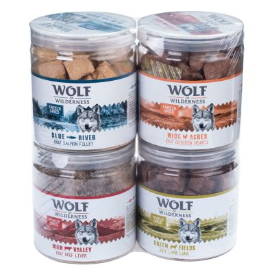 Wolf of Wilderness snacks liofilizados premium - Pack de experimentação misto