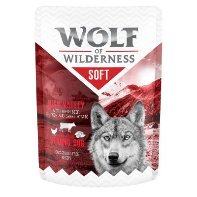 "Wolf of Wilderness ""Soft & Strong"", saszetki, 6 x 300 g"