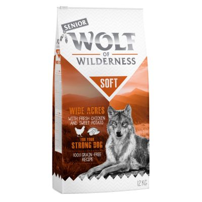 Wolf of Wilderness Soft & Strong 2 x 12 kg pour chien