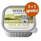 Wolf of Wilderness tarrinas 6 x 300 g en oferta: 5 + 1 ¡gratis!
