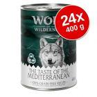 "Wolf of Wilderness ""Taste of"" gazdaságos csomag 24 x 400 g"