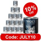 """Wolf of Wilderness """"The Taste of"""" Saver Pack 24 x 400g"""