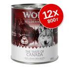 "Экономупаковка Wolf of Wilderness ""The Taste Of"" 12 x 800 г"