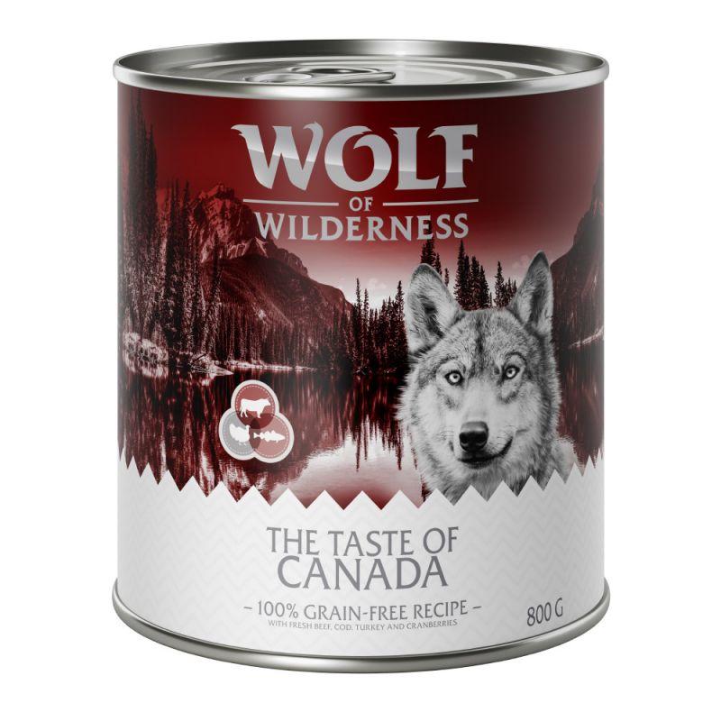 """Wolf of Wilderness """"The Taste Of"""" 6 x 800 g"""