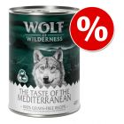 "Wolf of Wilderness ""The Taste Of"", 6 x 400 g la preț special!"