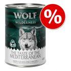 """Wolf of Wilderness """"The Taste Of"""", 6 x 400 g w super cenie!"""