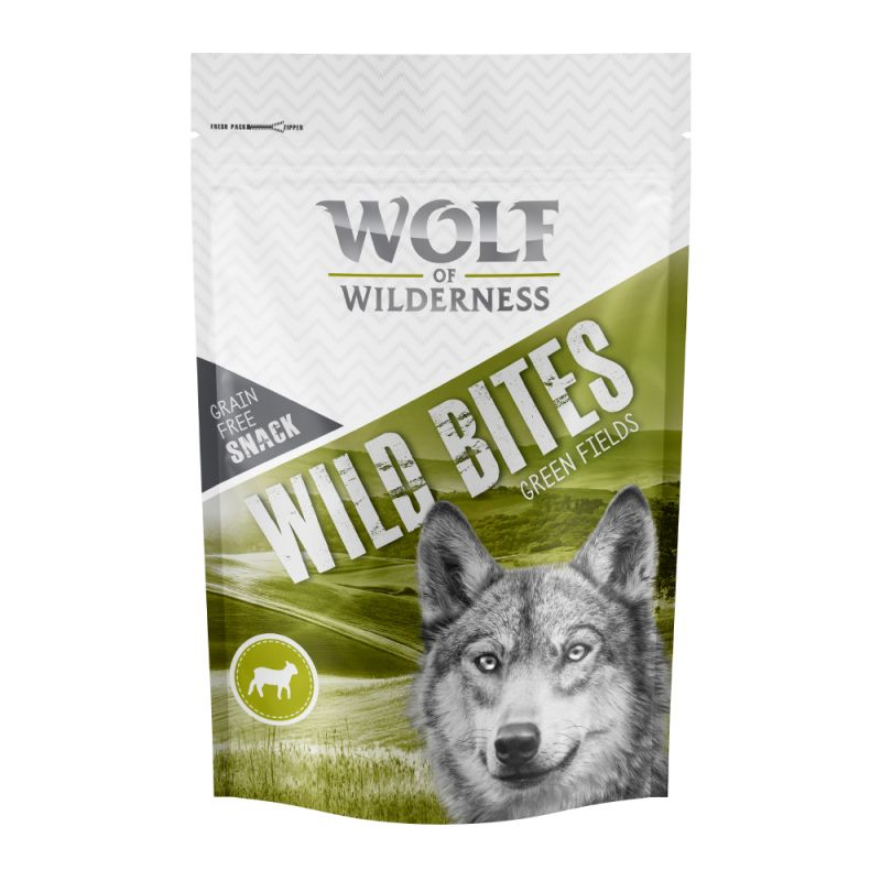 "Wolf of Wilderness Wild Bites Dog Snacks ""Green Fields"" - Lamb"