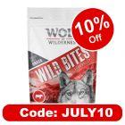 """Wolf of Wilderness Wild Bites Dog Snacks """"High Valley"""" - Beef"""