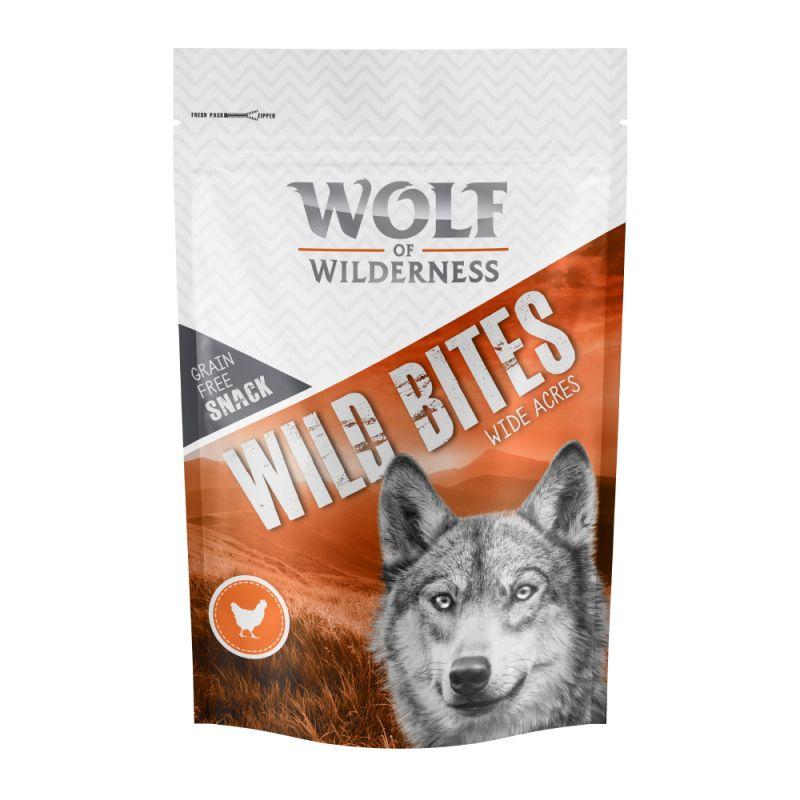 """Wolf of Wilderness Wild Bites Dog Snacks """"Wide Acres"""" - Chicken"""