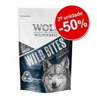 Wolf of Wilderness Wild Bites snacks 2 embalagens em promoção!