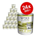 Экономупаковка Wolf of Wilderness 24 x 800 г