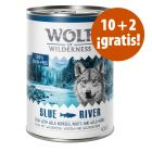 Wolf of Wilderness 12 x 400 / 800 g en oferta: 10 + 2 ¡gratis!