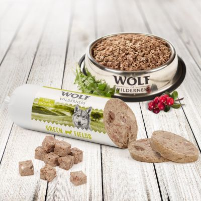 Wolf of Wilderness 6 x 400 g salchichas para perros
