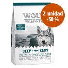 Wolf of Wilderness 2 x 1 kg pienso en oferta: 2ª ud. al 50%