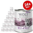 Икономична опаковка Wolf of WildernessFree-Range Meat Junior 24 x 800 г