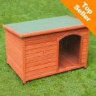 Woody Flat-Roofed Dog Kennel (incl. Free Plastic Door)