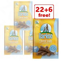 4 x Barkoo Dental Chews Dog Snacks - 22 + 6 Free!*