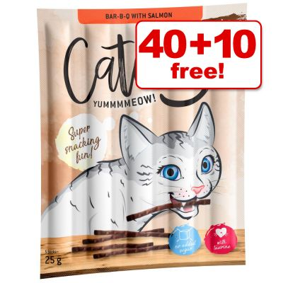 50 x Catessy Sticks Cat Treats -  40 + 10 Free!*
