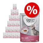 20 лв намаление! 48 x 85 г Concept for Life консервирана храна за котки