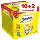 10 + 2 в подарок! 12 x 60 г Dreamies Variety Snack Box