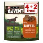 6 x 90g AdVENTuROS Dog Snacks with Urkorn - 4 + 2 Free!*