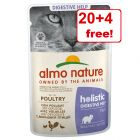 24 x 70g Almo Nature Holistic Digestive Help Pouches - 20 + 4 Free!*