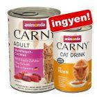 24x400 g Animonda Carny Adult + 140ml Animonda Carny Adult Cat Drink ingyen!