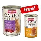24 x 400g Animonda Carny Adult Wet Cat Food + 140ml Cat Drink Free!*