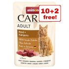 12 x 85g Animonda Carny Wet Cat Food Pouches - 10 + 2 Free!*