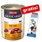 6 x 800 g Animonda GranCarno Adult + 50 g Animonda Dental Sticks gratis!