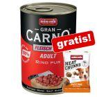 6 x 400 g Animonda GranCarno + 30 g Snacks gratis!