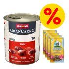 18 x 800 g Animonda GranCarno Original + 4 x Barkoo Dental Snacks w super cenie!