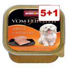 6 x 150 g Animonda vom Feinsten koiranruoka: 5 + 1 kaupan päälle!