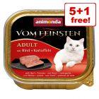 6 x 100g Animonda vom Feinsten Wet Cat Food - 5 + 1 Free!*