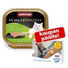 6 x 100 g Animonda vom Feinsten + 4 x 15 g Milkies Snack kaupan päälle!