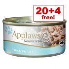24 x 156g Applaws Wet Cat Food - 20 + 4 Free!*