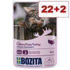 24 x 85 g Bozita Chunks in Gravy/Jelly Pouch: 22 + 2 kaupan päälle!