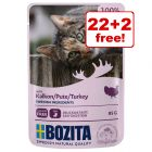 24 x 85g Bozita Chunks in Sauce Pouches - 22 + 2 Free!*